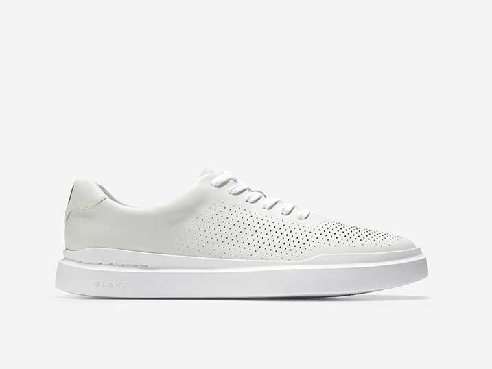 Cole Haan GrandPro Rally Laser Cut Sneaker White