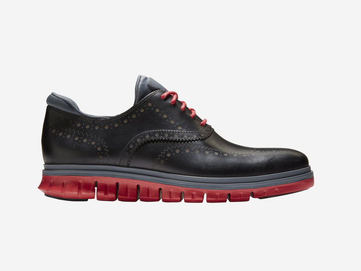 Cole Haan ZERØGRAND Wing Ox WP Black/Red  C31677