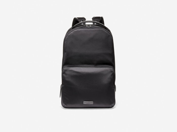 Cole Haan Nylon Leather Backpack Black  F11332