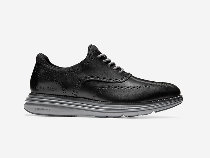 Cole Haan ØriginalGrand Ultra Wing OX Black Leather/Quiet  C32064
