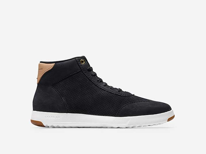 Cole Haan GrandPr Hi Top Black Nubuck