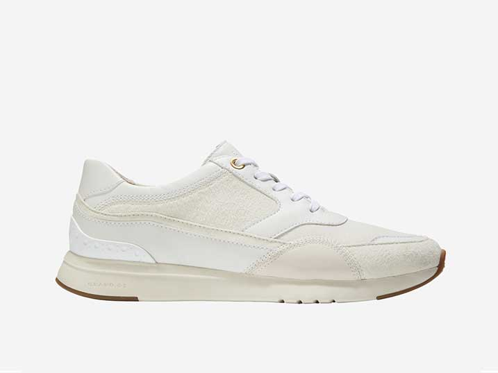 Cole Haan Sneaker GrandPrø Layered Trainer White   W14251-93