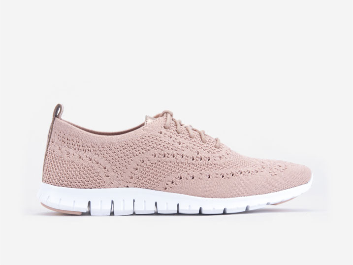 Cole Haan ZerøGrand Stitchlite Oxford Mahogany Rose Metallic  W17100