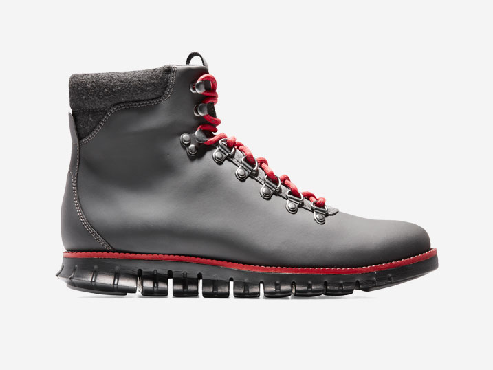 Cole Haan ZerøGrand Hiker Boot Grey-Red