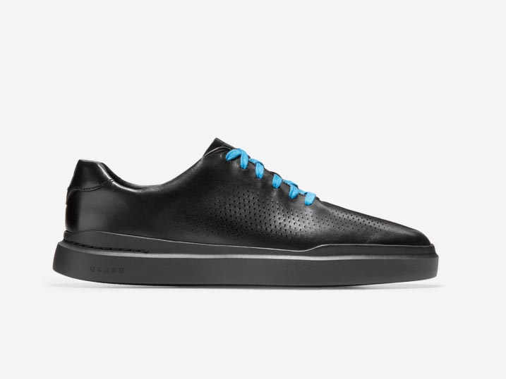 Cole Haan GrandPrø Rally Laser Cut Sneaker Leather Black