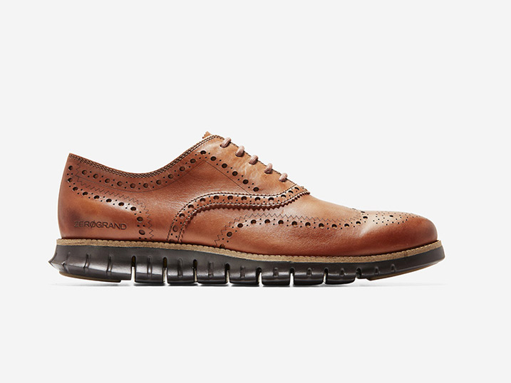 Cole Haan ZERØGRAND Wingtip Oxford British Tan Java
