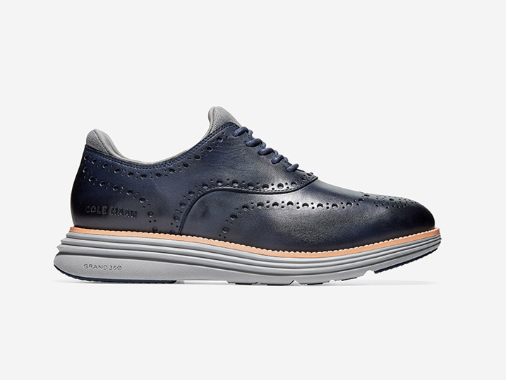 Cole Haan Øriginal Grand Ultra Wing OX Marine Blue Leather