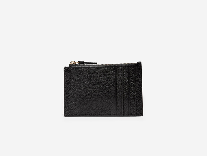 Cole Haan Card Case Zip Black