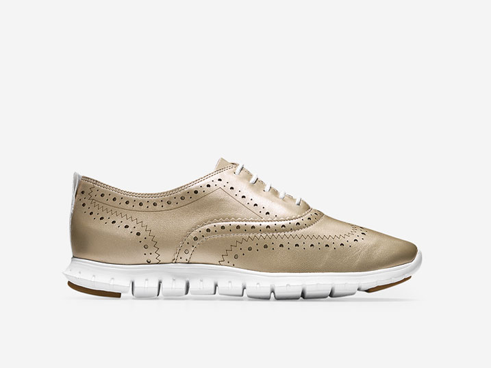 Cole Haan ZerøGrand Wing Ox Matte Gold